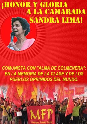 ¡HONOR Y GLORIA A LA CAMARADA SANDRA LIMA!